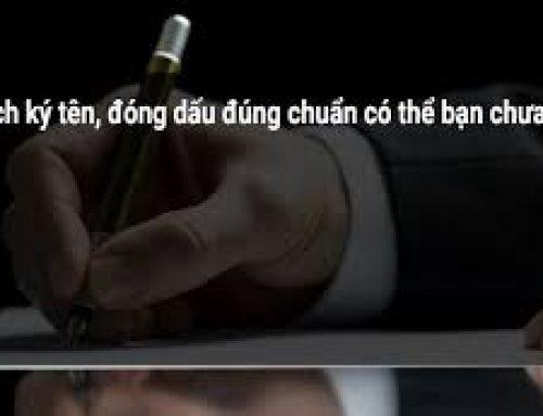 Cách ký tên, đóng dấu đúng luật vào văn bản theo NĐ 30/2020/NĐ-CP